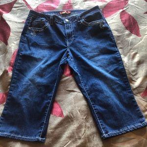Lane Bryant crop jeans